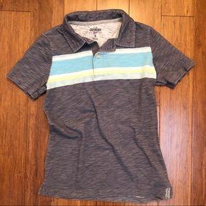 Oshkosh Boys Gray Stripe Polo Short Sleeve Shirt
